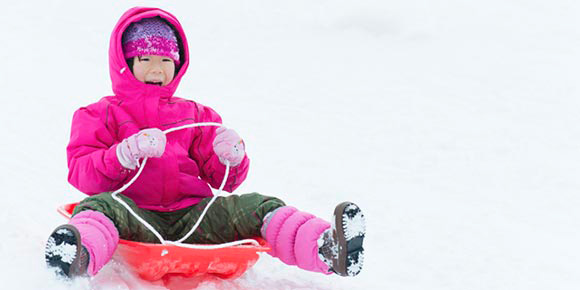 Sledding, snowball fights and other fun in the snow